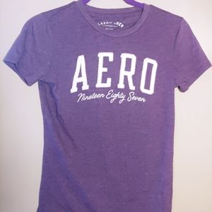 Aeropostale medium purple tee
